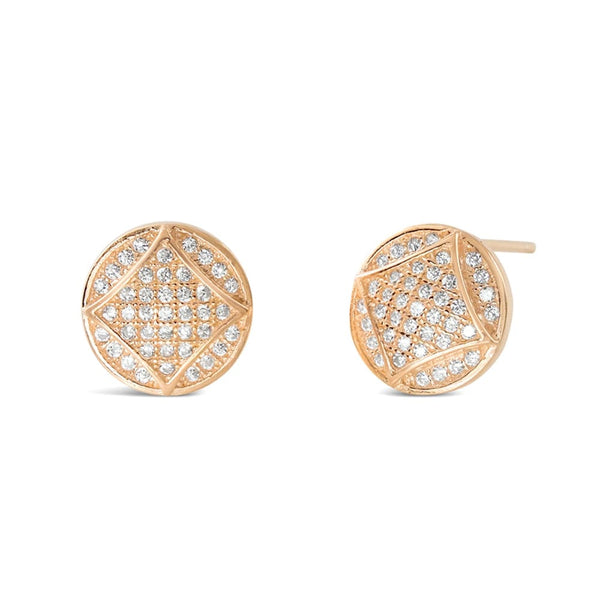 Rose Gold Plated Silver Cubic Zirconia Fabulous Circle Earrings