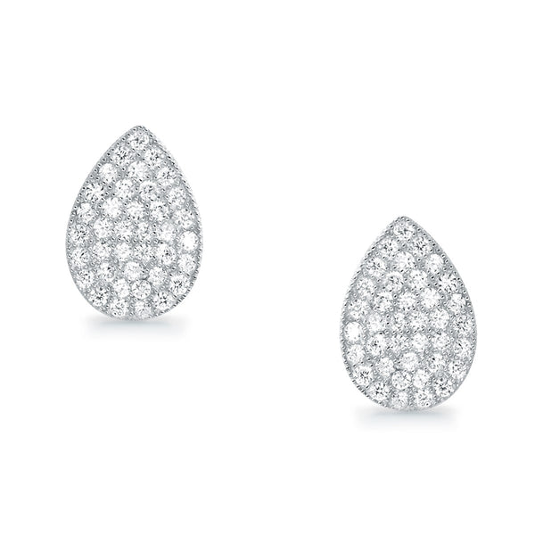 Elegant Drip Type Sterling Silver Cubic Zirconia Earrings