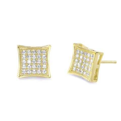 9K Gold Plated Sterling Silver CZ Earrings