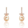 Freshwater Cultured Pearl Rose Gold Over Sterling Silver Earrings