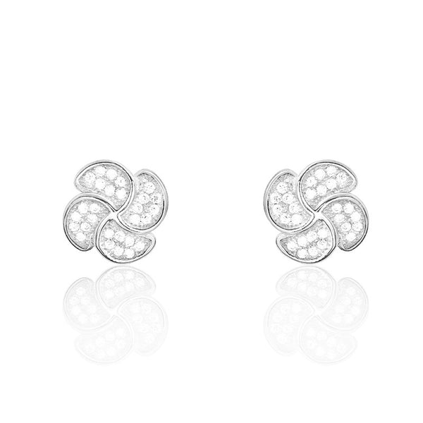 925 Sterling Silver Pave Settings CZ Fashion Earrings - Jewelry - Prjewel.com - 1