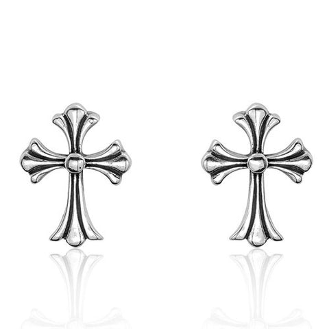 Sterling Silver Cross Fashion Earrings