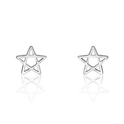 Star Sterling Silver Fashion Earrings - Jewelry - Prjewel.com - 1