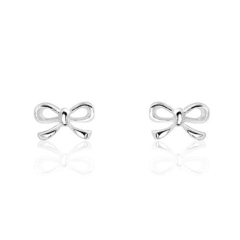 Sterling Silver Bow Earrings