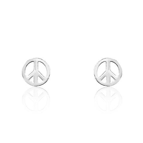 Sterling Silver Peace Sign Earrings - Jewelry - Prjewel.com - 1