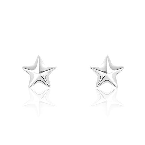 Sterling Silver Tiny Star Earrings