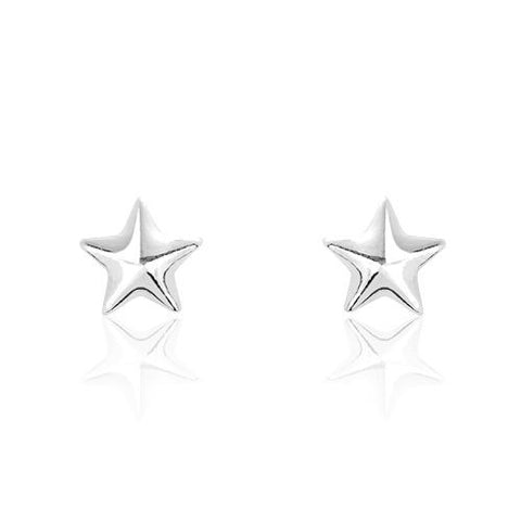 Sterling Silver Tiny Star Earrings - Jewelry - Prjewel.com - 1