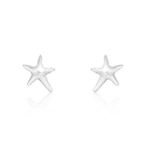 Sterling Silver Starfish Stud Earrings - Jewelry - Prjewel.com - 1