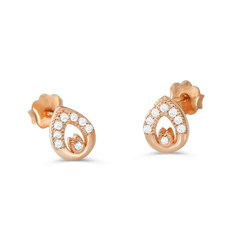 Rose Gold Silver Exquisite Earrings