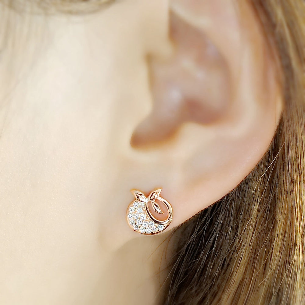 Rose Gold Plated Silver Tomato Earrings 2