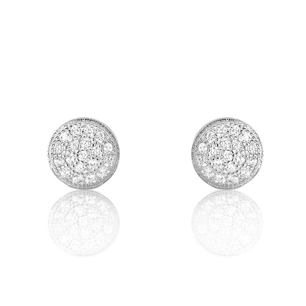 stud ingenious circle earrings from silver open