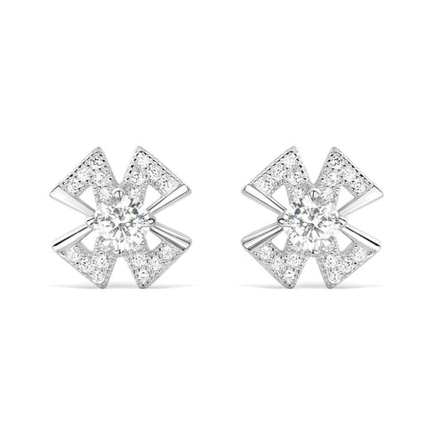 Sterling Silver 4mm Cubic Zirconia Earrings Studs