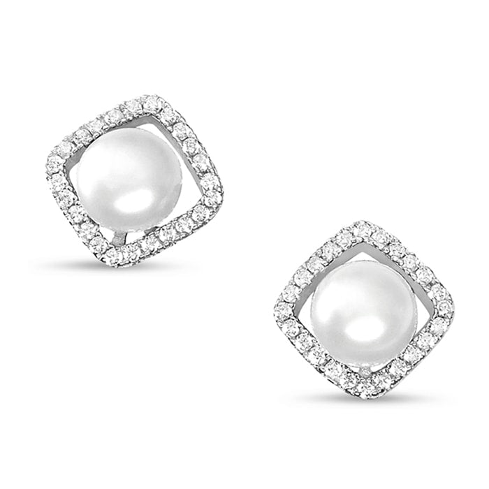 Sterling Silver Freshwater Cultured Pearl Earrings Studs