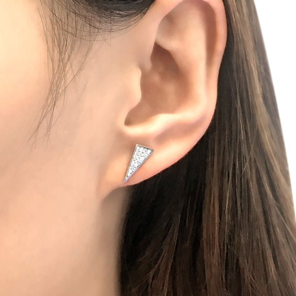 Sterling Silver Triangle Stud Earrings 2