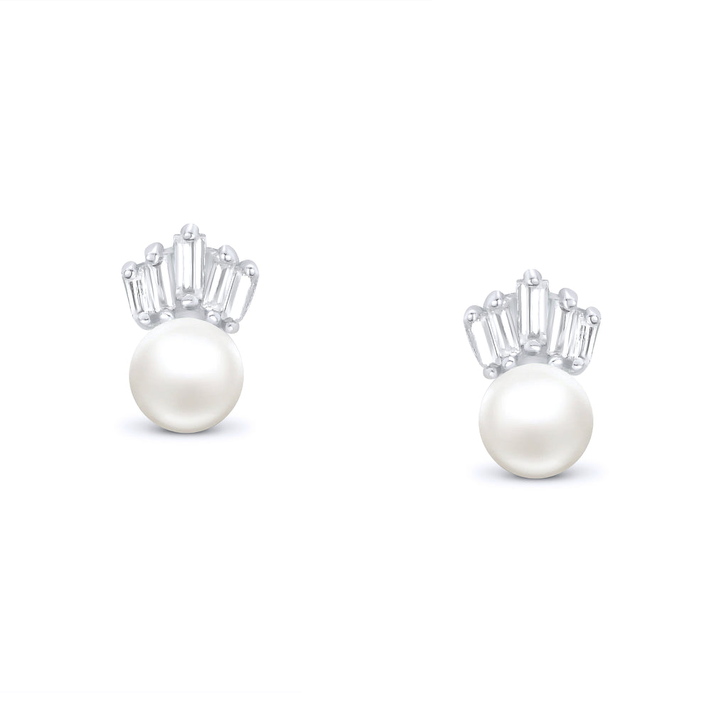 925 Sterling Silver Lovely Crown Earrings Studs