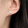 Sterling Silver CZ fashion Leaf Earrings