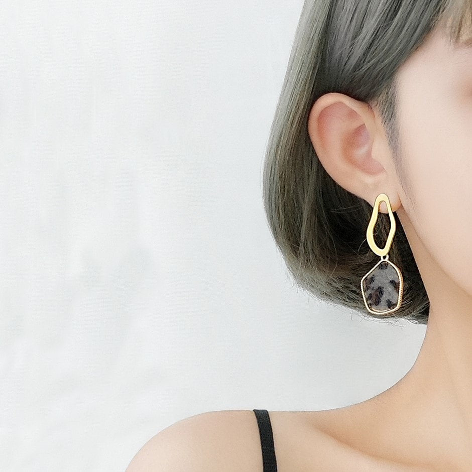 Fashion Individual 925 Silver Geometric Earrings 2