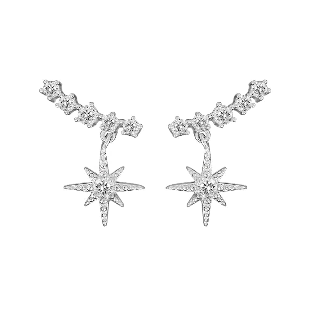 Fashion Sterling Silver CZ Climber Earring 7