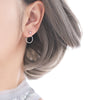 Sterling Silver Geometric Fashion Back Hanging Stud earrings