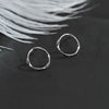 Minimalist Sterling Silver Small Circle Stud Earrings