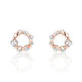 Rose Gold over 925 Sterling Silver Cubic Zirconia Glamorous Earrings - Jewelry - Prjewel.com - 1