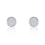 Sterling Silver Cubic Zirconia Modern Circle Earrings - Jewelry - Prjewel.com - 1