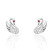 Lovable Swan 925 Sterling Silver CZ Earrings - Jewelry - Prjewel.com - 1