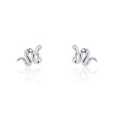 Adorable Snake Cubic Zirconia 925 Sterling Silver Earrings - Jewelry - Prjewel.com - 1