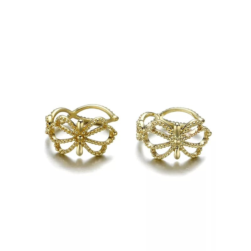 9K Solid Gold unique Ear Cuff Cartilage Earrings