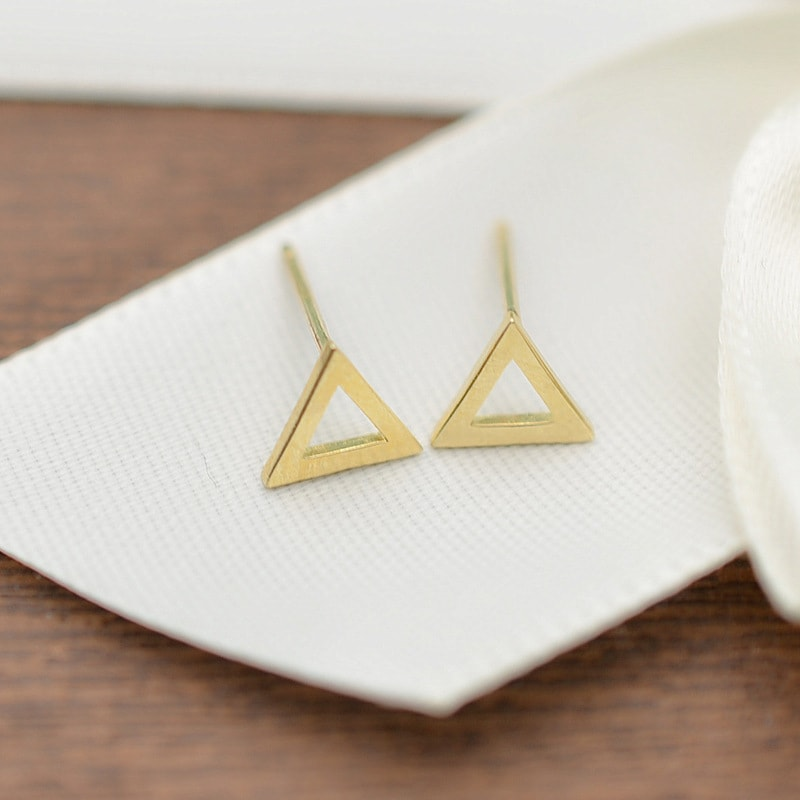 Solid 10K Yellow Gold tiny Stud Earrings