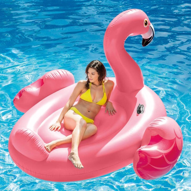 Portable Pool Float Flamingo Inflatable Swimming Ring