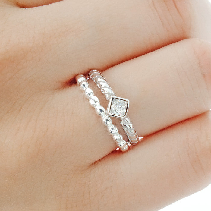 Sterling Silver Stackable Bead Ring - Jewelry - Prjewel.com - 3