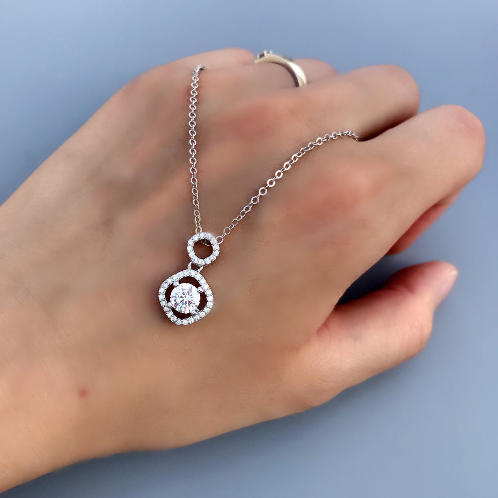 Sterling Silver CZ Fashion Necklace