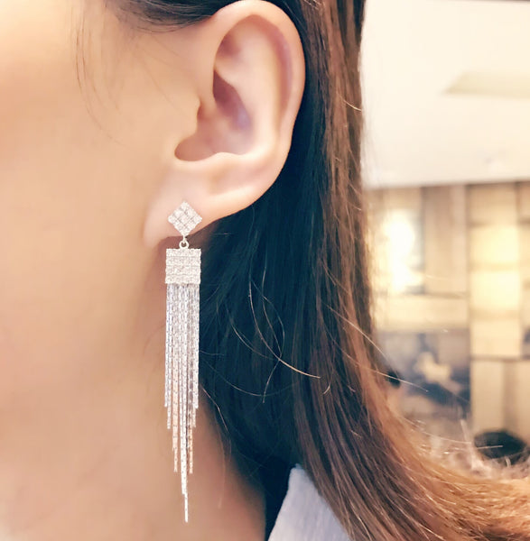 Sterling Silver Tassel Earrings Dangle