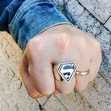 Sterling Silver Superman Ring