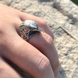 Mens Sterling Silver Eagle Ring, Vintage Eagle Head Ring 2