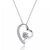 Gorgeous 1.4 Ct Cubic Zirconia 925 Silver Heart Pendant Necklace 16