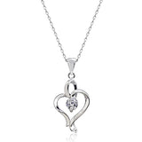 "Graceful 0.65 Carat Cubic Zirconia 925 Sterling Silver Necklace 16""+ 2"" Extender - Jewelry - Prjewel.com - 1"