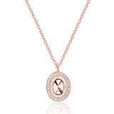Rose Gold Plated 925 Sterling Silver 0.2 Carat Cubic Zirconia Necklace - Jewelry - Prjewel.com - 1