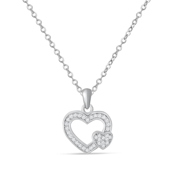 Heart to Heart Silver Necklace