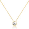 Gold Plated 925 Sterling Silver Pure Circle CZ Necklace