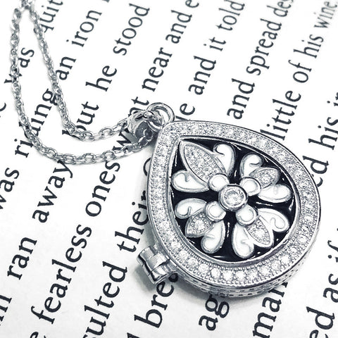 Graceful 925 Sterling Silver Message Pendant Necklace - Jewelry - Prjewel.com - 1