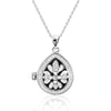 Graceful 925 Sterling Silver Message Pendant Necklace