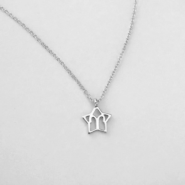 Silver Star Aries Necklace - 21/3 to 19/4