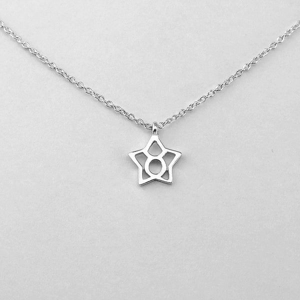 Silver Star Taurus Necklace - 20/4 to 20/5