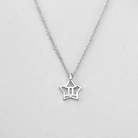 Silver Star Gemini Necklace - 21/5 to 20/6 - Jewelry - Prjewel.com - 1
