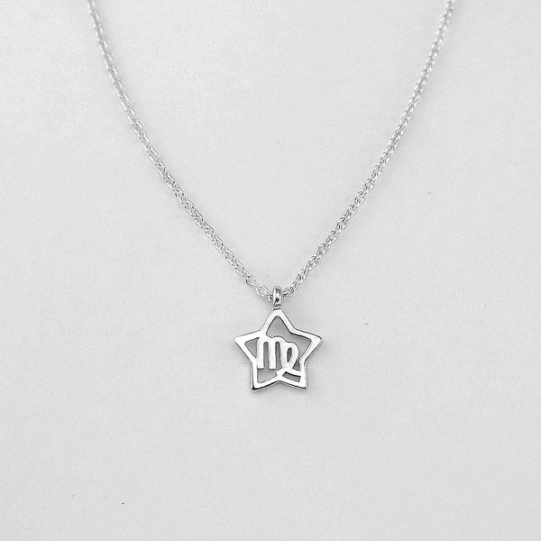 Silver Star Virgo Necklace - 23/8 to 22/9 - Jewelry - Prjewel.com - 1