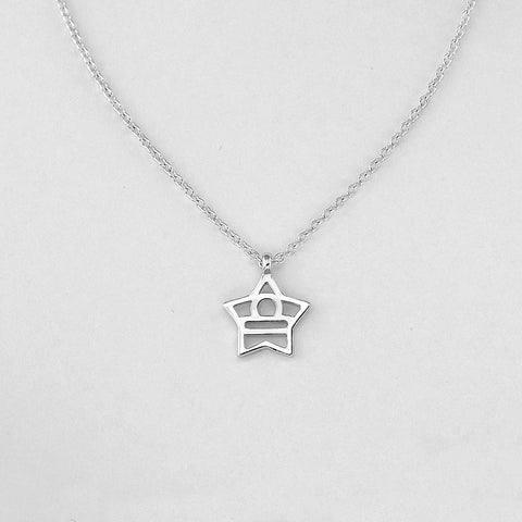 Silver Star Libra Necklace - 23/9 to 22/10 - Jewelry - Prjewel.com - 1
