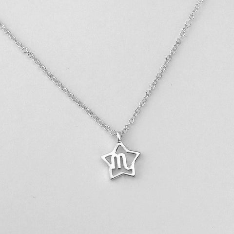 Silver Star Scorpio Necklace - 23/10 to 21/11 - Jewelry - Prjewel.com - 1