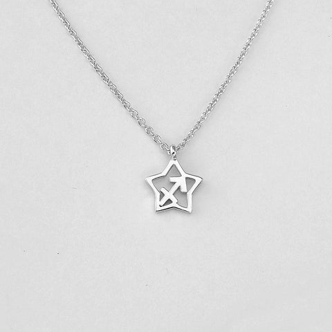 Silver Star Sagittarius Necklace - 22/11 to 21/12 - Jewelry - Prjewel.com - 1